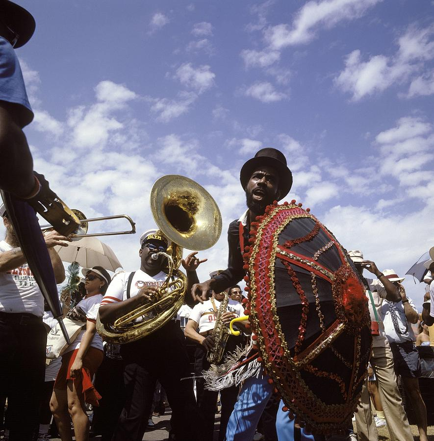 Photo Of Marching Band And New Orleans Photograph by David Redfern