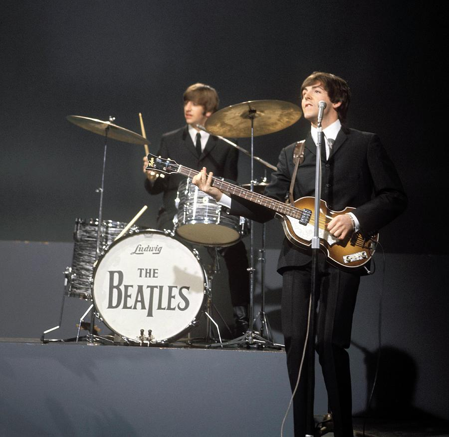 Photo Of Ringo Starr And Paul Mccartney Photograph by David Redfern