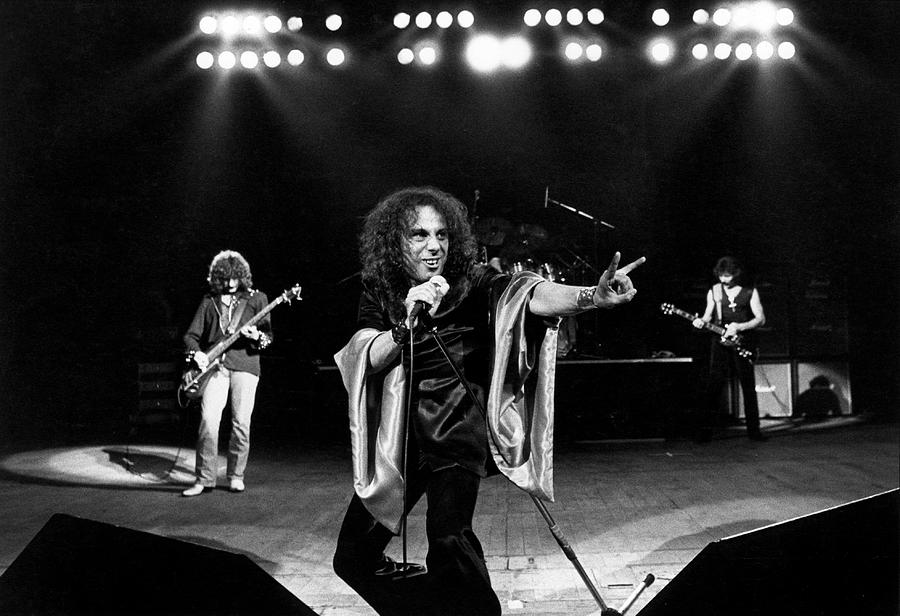 Photo Of Ronnie Dio And Black Sabbath Photograph by Fin Costello