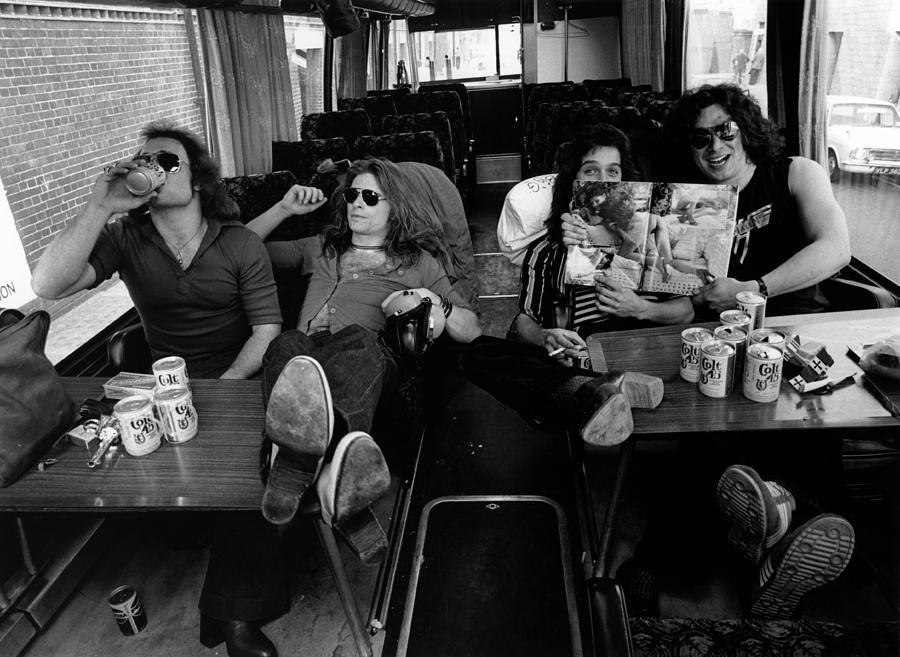 Photo Of Van Halen And Alex Van Halen Photograph by Fin Costello