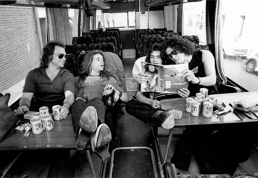 Photo Of Van Halen And Michael Anthony Photograph by Fin Costello