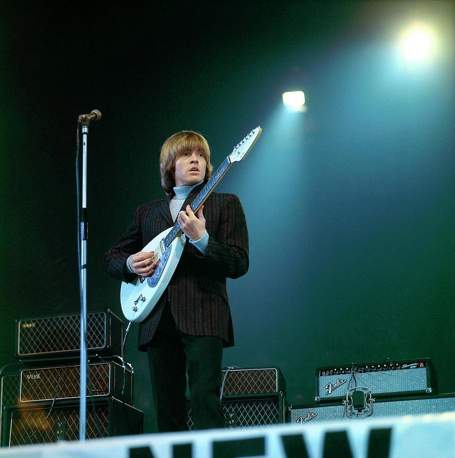 Photo Of Vox Guitars And Brian Jones Photograph by David Redfern