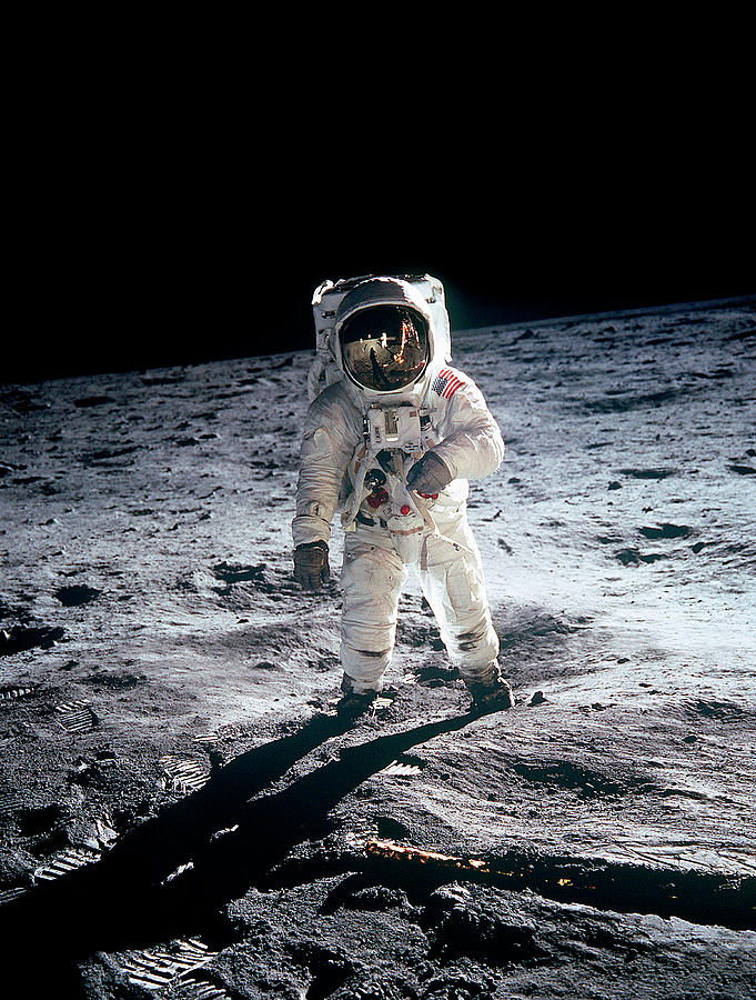 Photograph Of Edwin Aldrin Taken During Photograph by Michael Dunning