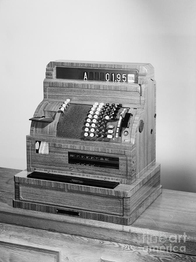 Photograph Of National Cash Register Photograph by Bettmann