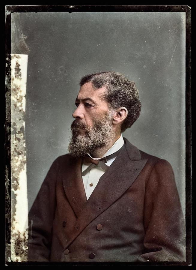 Photograph Shows John Mercer Langston Painting
