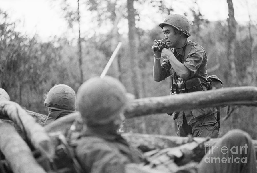 Photographer During Vietnam War Photograph by Bettmann