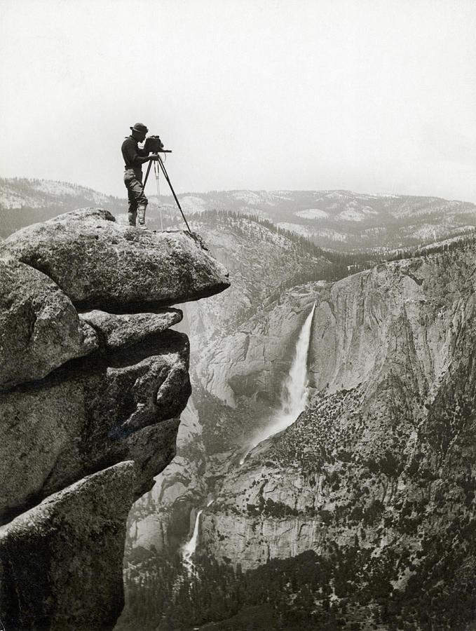 Photographer In Yosemite Valley Photograph by Bettmann