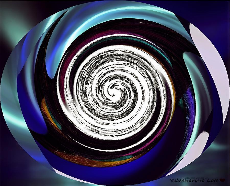 Photoimpressed Whirl5 by Catherine Lott