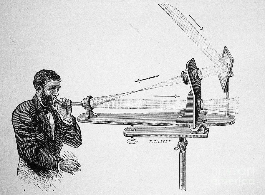 Photophone By Alexander Graham Bell Drawing by Heritage Images