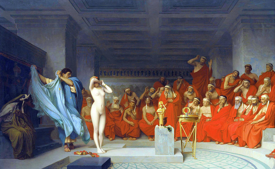 Jean Leon Gerome Painting - Phryne Before The Areopagus - Digital Remastered Edition by Jean-Leon Gerome