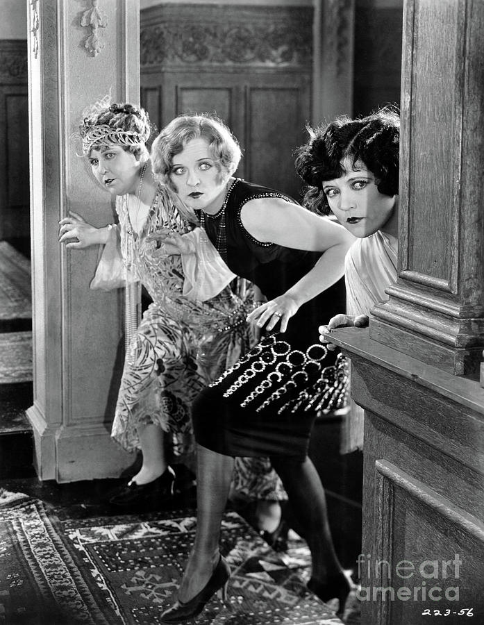 Silent Film Photograph - Phyllis Haver - Marie Prevost - Up in Mabels Room - 1926 by Sad Hill - Bizarre Los Angeles Archive
