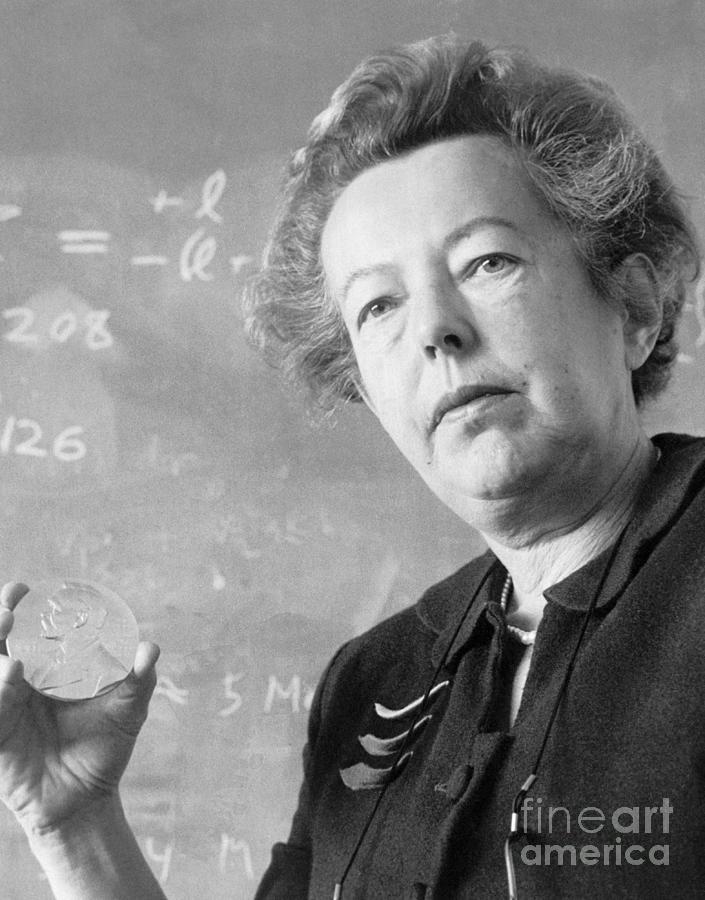 Physicist Maria Goeppert Mayer Holding Photograph by Bettmann
