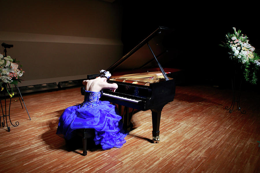 Pianist On Stage For Rehearsal Photograph by Atsuo Watanabe