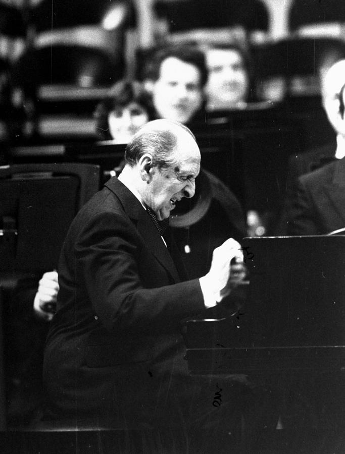 Pianist Vladimir Horowitz Plays At The Photograph by New York Daily News Archive