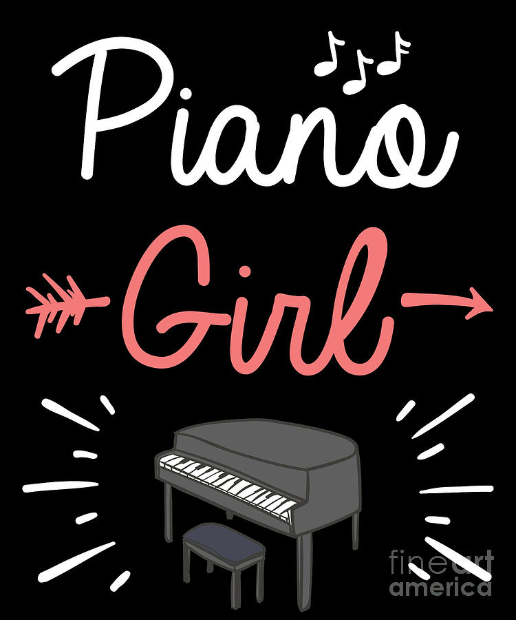 Piano Girl Piano Player Cute Pianist Music Notes Tshirt