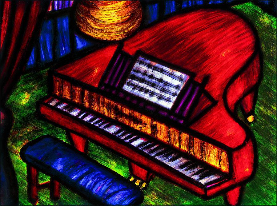 Piano Painting - Piano by Hugo Heikenwaelder