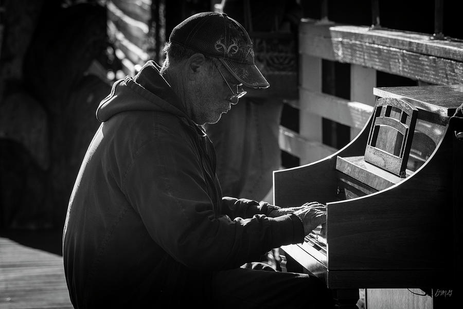Piano Man I BW by David Gordon