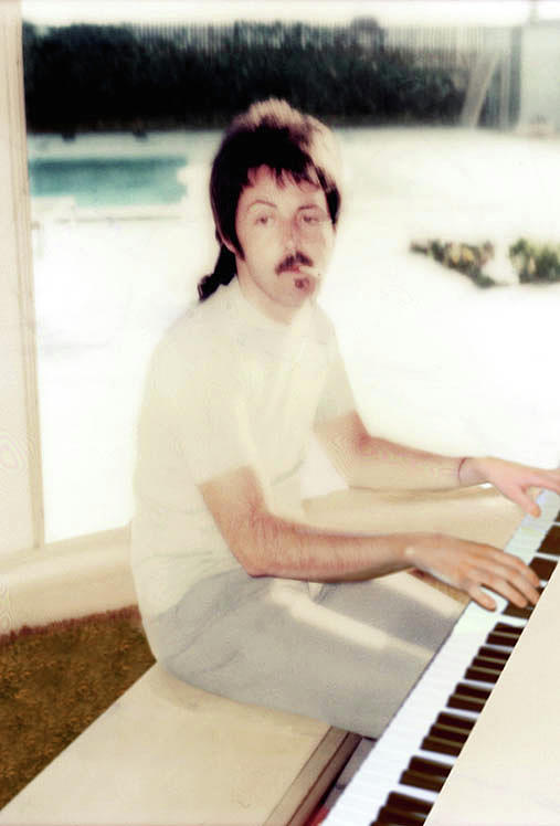 Piano Man Paul McCartney  by Iconic Images Art Gallery David Pucciarelli