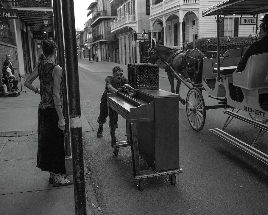 French Quarter Photograph - Piano Man by William Graham