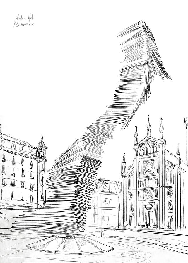 Piazza Benefica Drawing Drawing