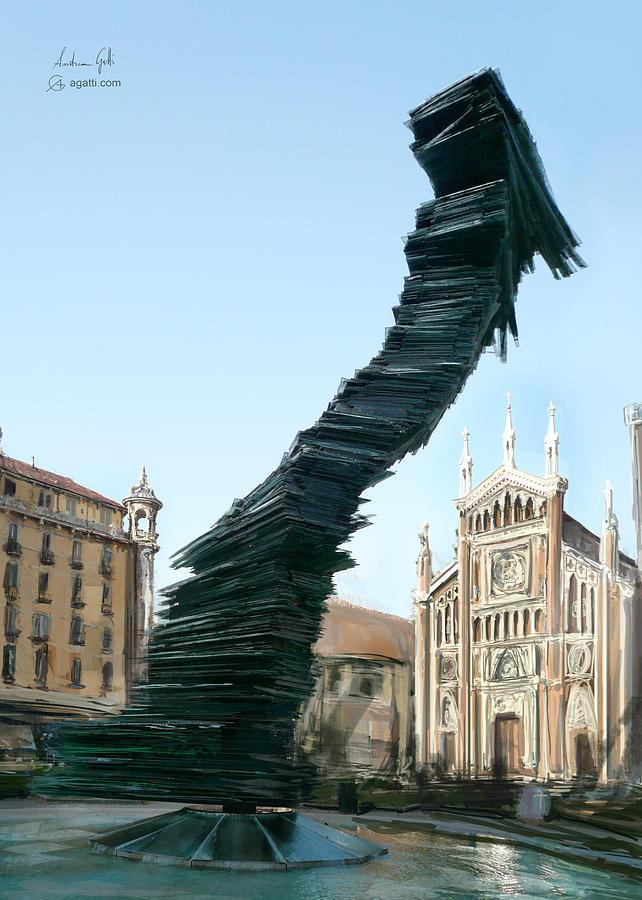 Piazza Benefica Painting Digital Art