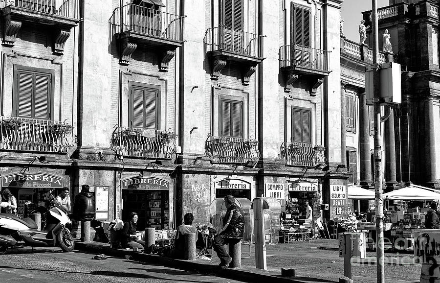 Windows Photograph - Piazza Dante Scene In Naples by John Rizzuto