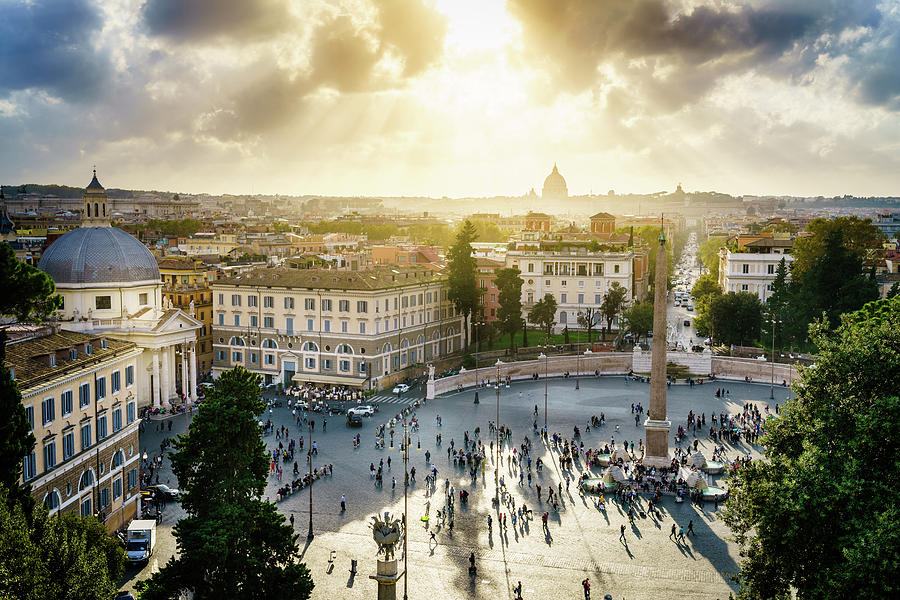 Piazza Del Popolo In Rome Photograph