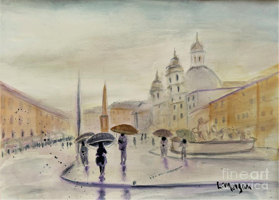 Piazza Navona Roma by Laurie Morgan