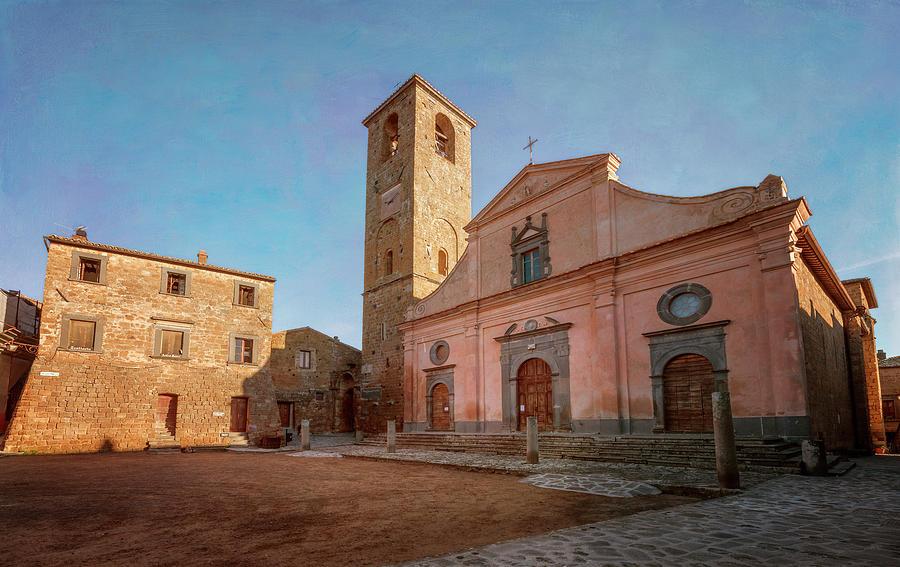 Piazza San Donato Civita di Bagnoregio Italy by Joan Carroll