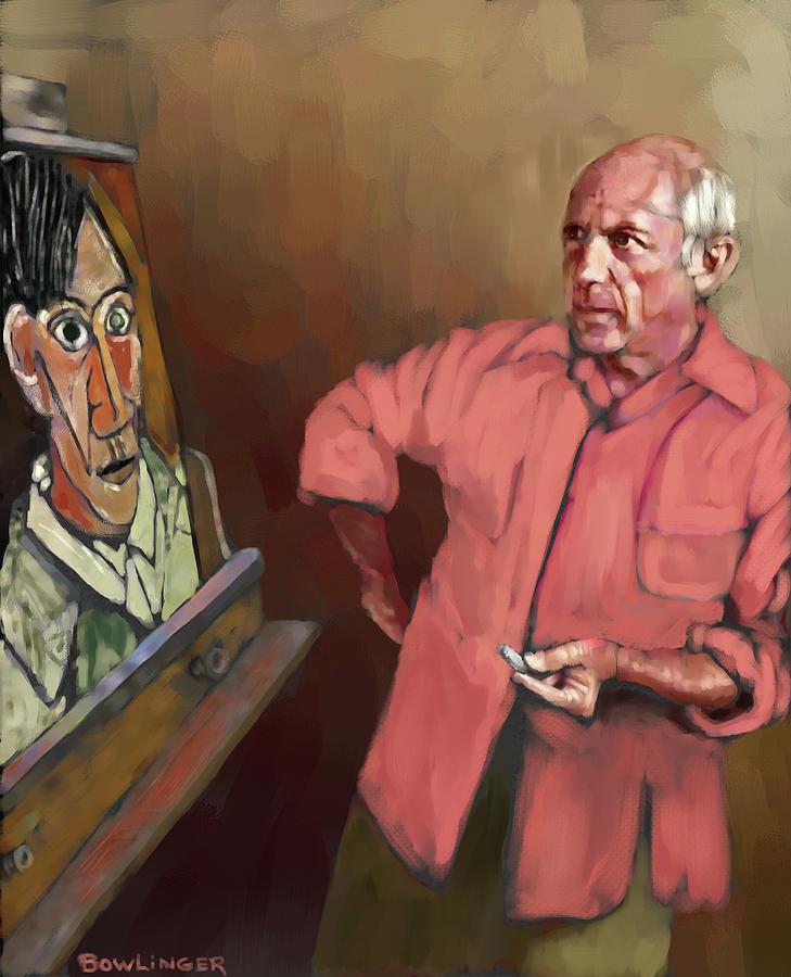 Picasso selfie by SCOTT BOWLINGER