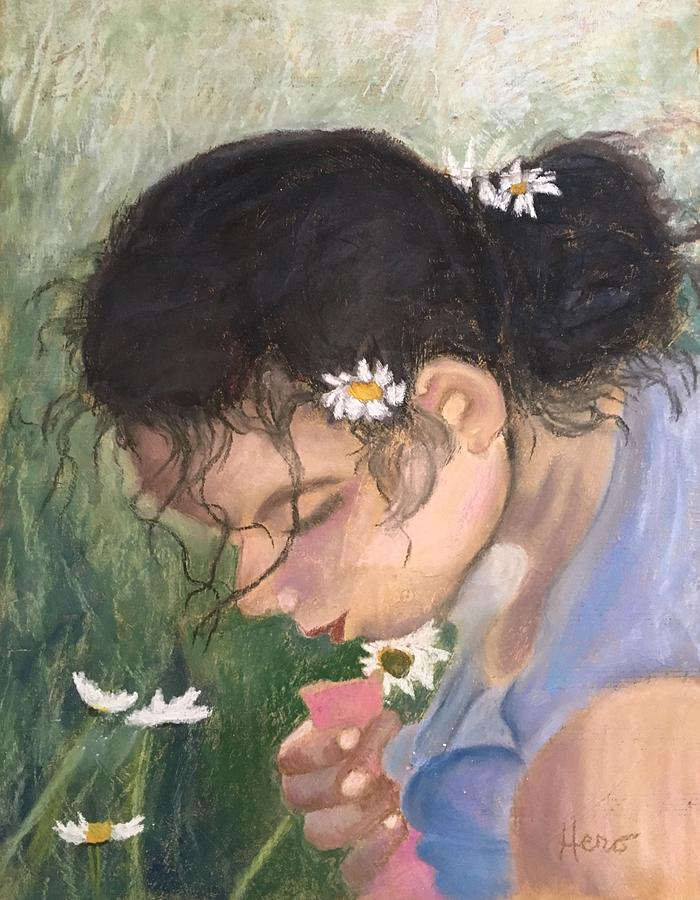Pastel Painting - Picking Daisies by Marcia Hero