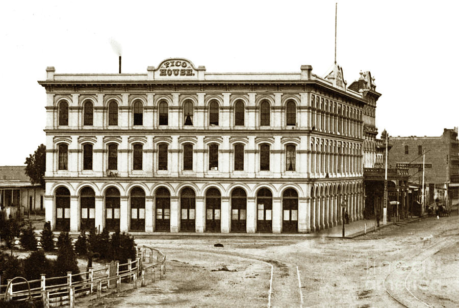 Pico House and  Plaza 430 N. Main Street-across from Olvera Street by California Views Archives Mr Pat Hathaway Archives