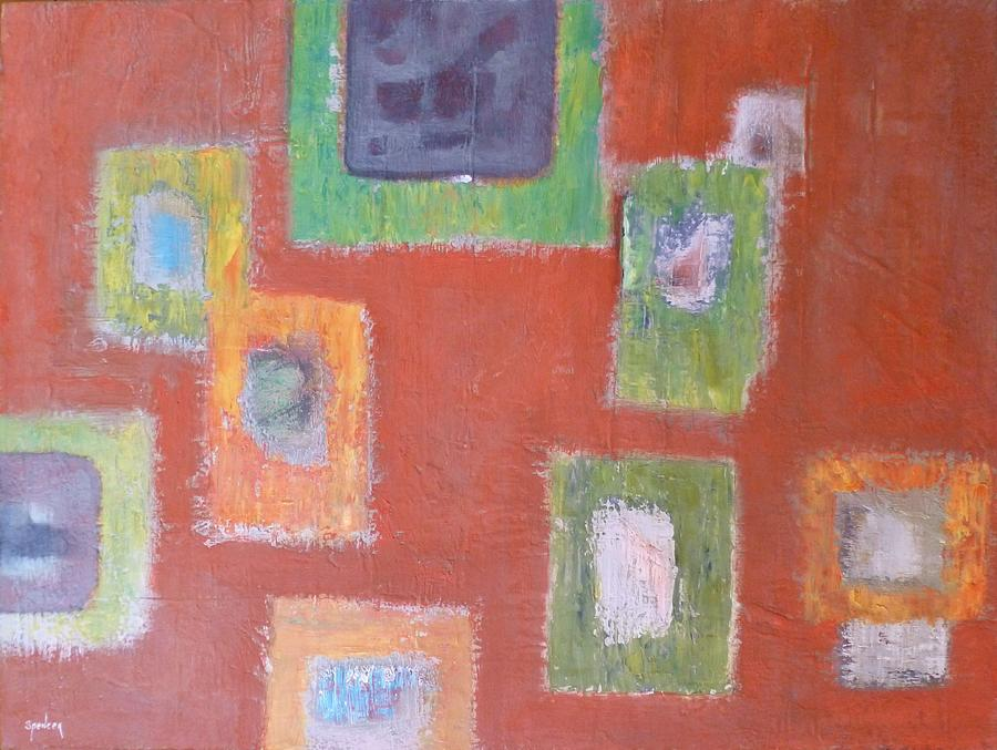 Abstract Painting - Picture Frames by Scott Spencer