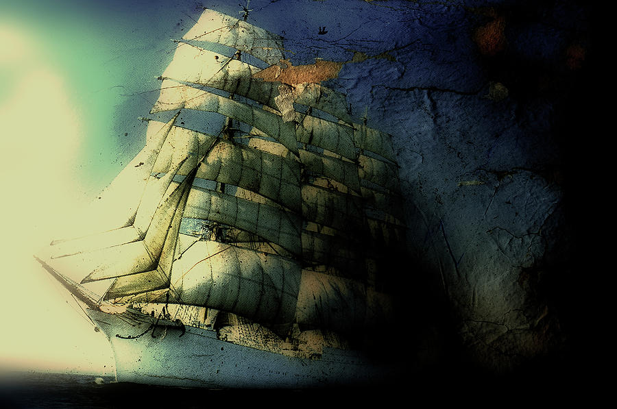 Picture Of A Sailboat Painted On A Photograph by Win-initiative/neleman