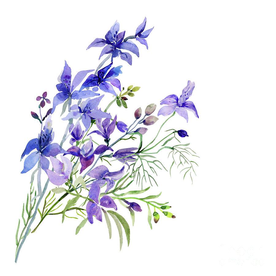 Picture Of Wildflowers Digital Art by Svitlana Markova