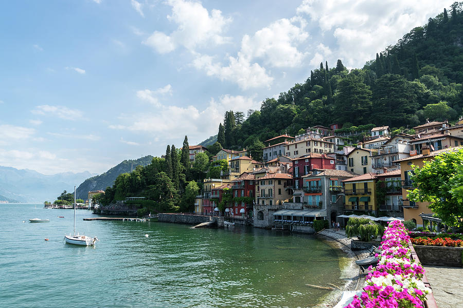 Picture Perfect Waterfront - Charismatic Varenna Lake Como Lombardy Italy by Georgia Mizuleva
