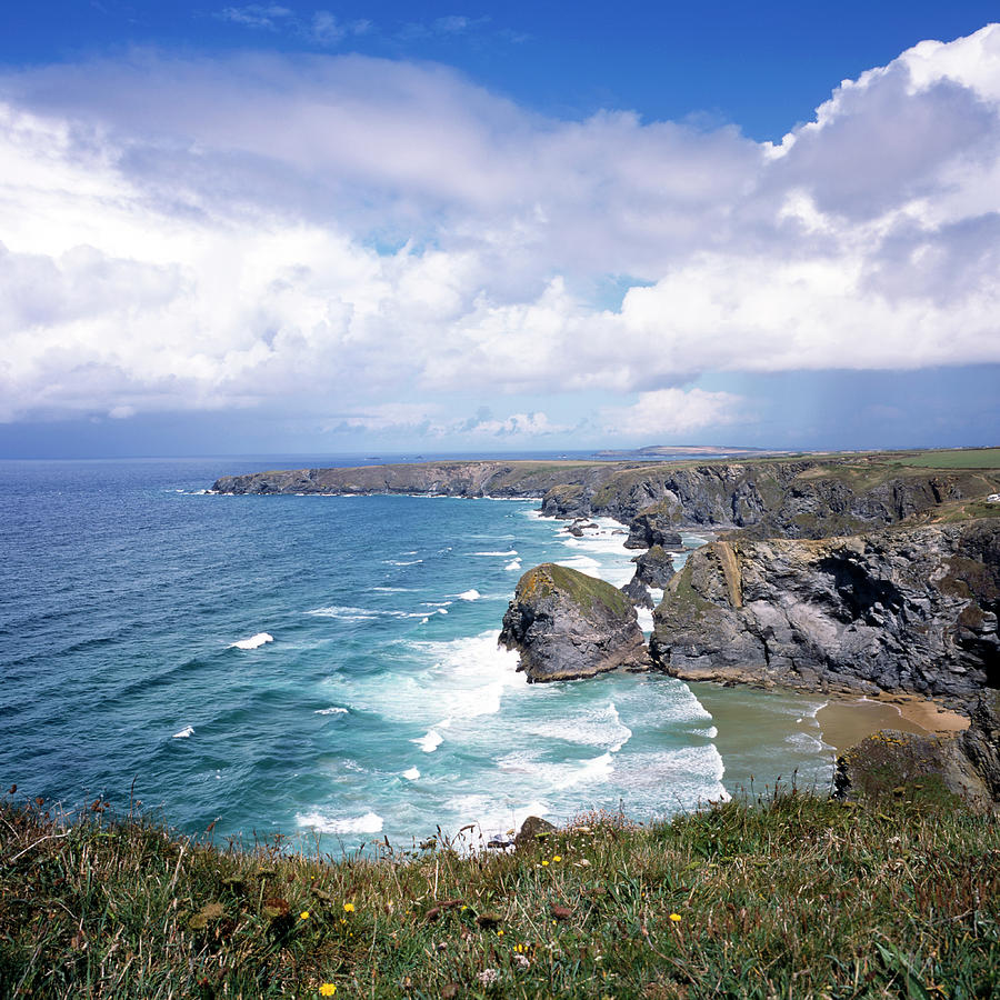 Picturesque Cornwall - Bedruthan Photograph by Chrisat