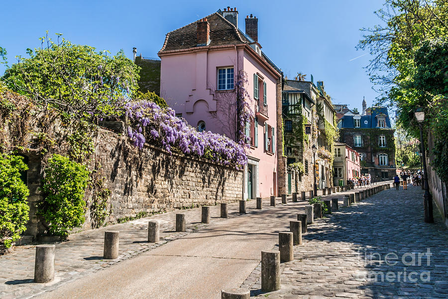 Capital Photograph - Picturesque House On The Montmartre by Kiev.victor