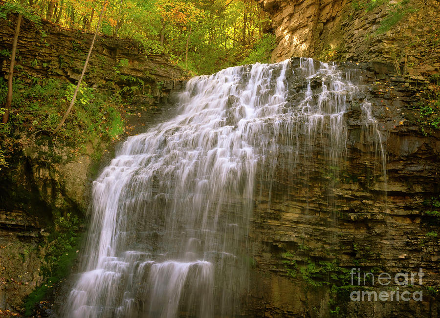 Picturesque Tiffany Falls in autumn by Louise Heusinkveld