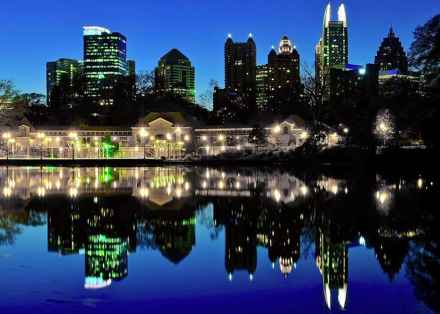 Atlanta Photograph - Piedmont During Blue Hour by Skyline Photos of America