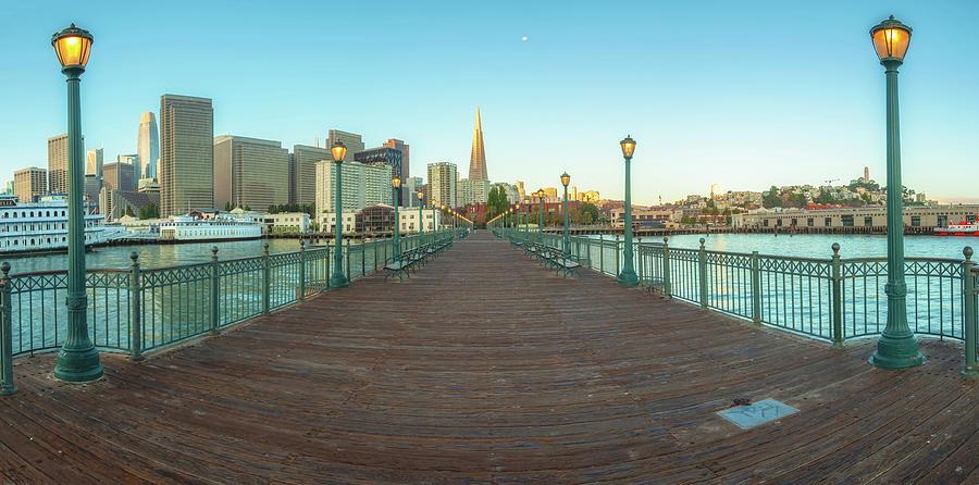Pier 7 Morning - pano by Jonathan Nguyen