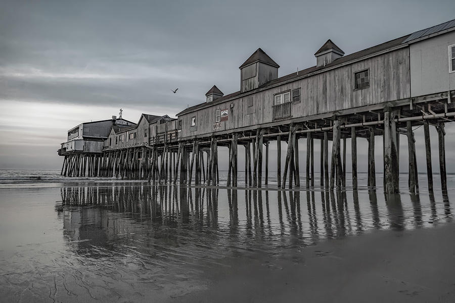 Old Photograph - Pier At Dawn In Maine by Betsy Knapp