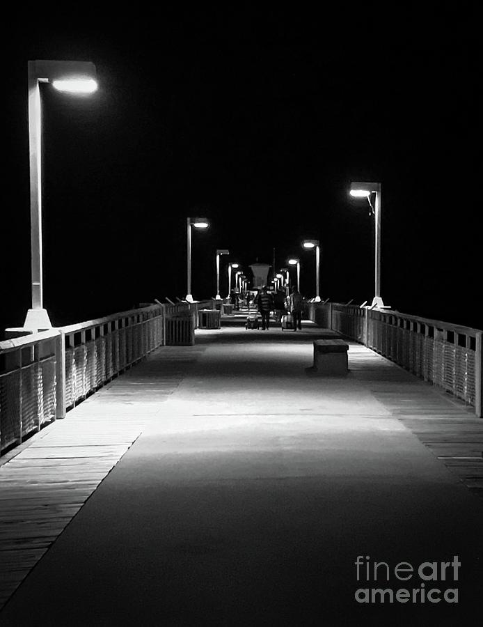 Pier at Night by Bob Mintie