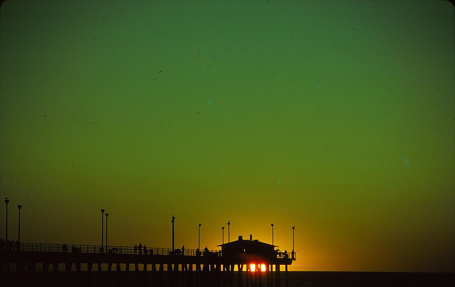 Sunset Photograph - Pier At Sunset by Marty Klar