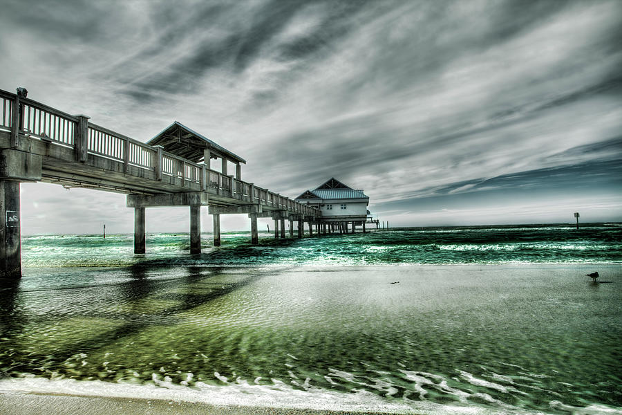 Pier Photograph by Chumbley Photography