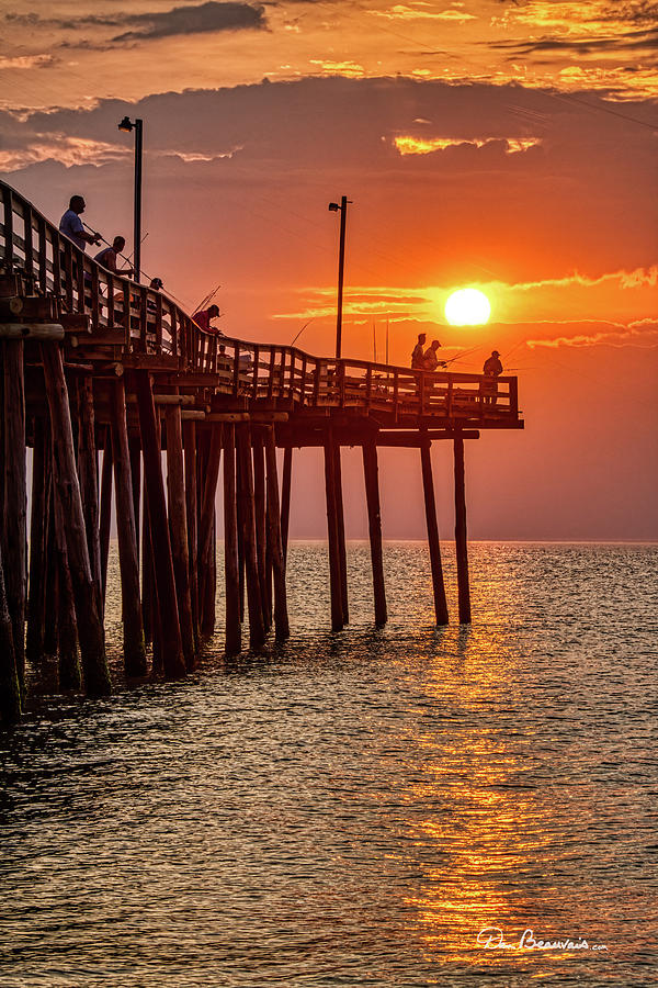 Pier Fishing At Sunrise 3216 Photograph