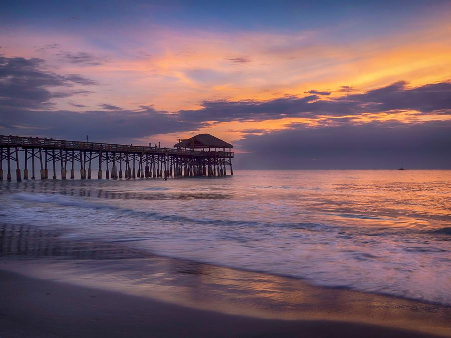 Sunrise Photograph - Pier Greeting by Rob Wilson