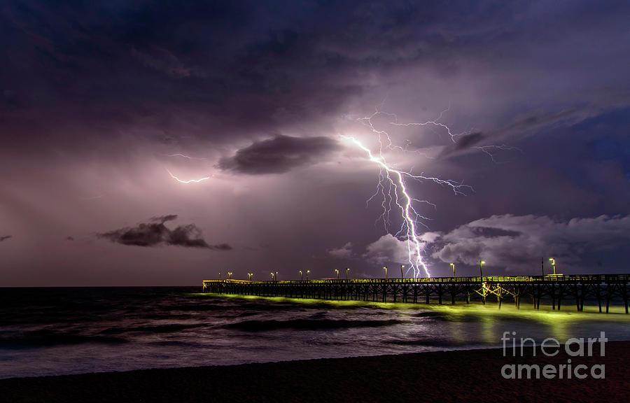Pier Lightning by DJA Images