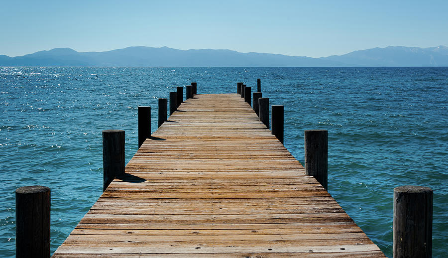 Pier On Lake Tahoe Photograph by Buburuzaproductions