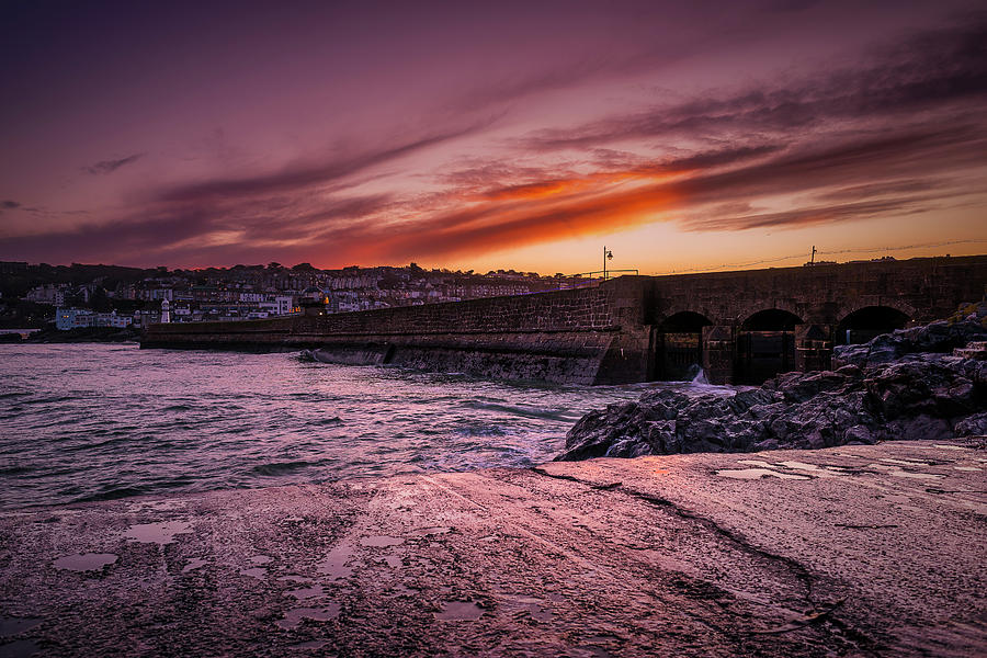 Pier to Pier Sunset by Eddy Kinol